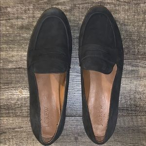 J. Crew gray suede loafers